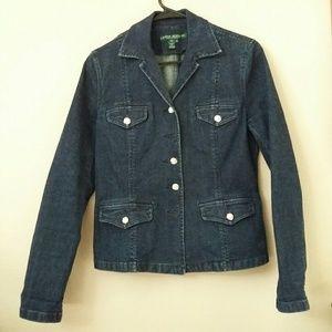 Ralph Lauren Jeans Denim Blazer Classy Jacket M